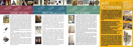 Interno del depliant del Museo Federico Eusebio di Alba